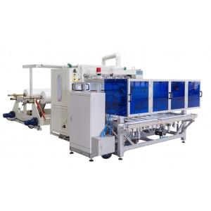 auto V fold tissue paper separation system