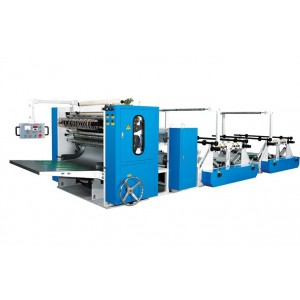 V fold tissue towel interfolding machine