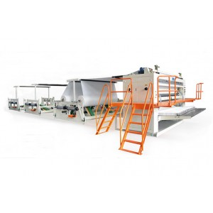 14 lane facial tissue interfolding machine
