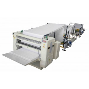 laminated V fold tissue towel interfolding machine